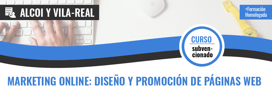 Curso gratis de COMM031PO Marketing on line: Diseño y promoción de sitios web presencial